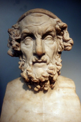 作家「Sculpture of Homer, Ancient Greek poet」:スマホ壁紙(19)