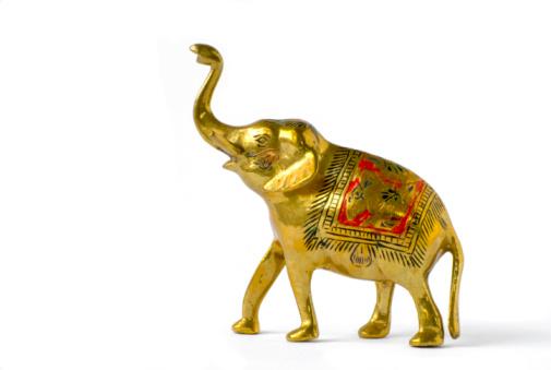 金運「ゴールドのヒンドゥー教の象の像」:スマホ壁紙(4)