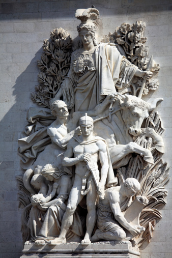 Arc de Triomphe - Paris「Sculpture on Arc De Triomphe」:スマホ壁紙(0)