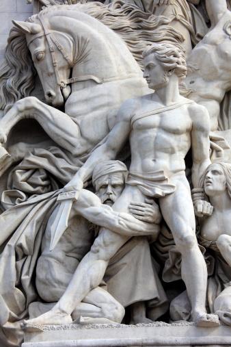 Arc de Triomphe - Paris「Sculpture on Arc De Triomphe」:スマホ壁紙(2)