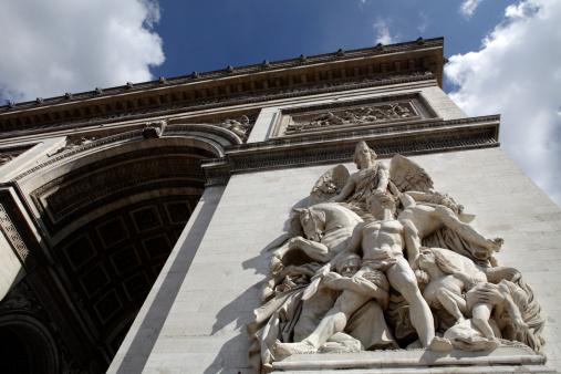 Arc de Triomphe - Paris「Sculpture on Arc De Triomphe」:スマホ壁紙(6)