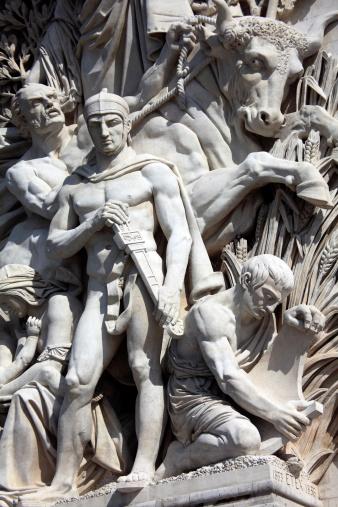 Arc de Triomphe - Paris「Sculpture on Arc De Triomphe」:スマホ壁紙(1)