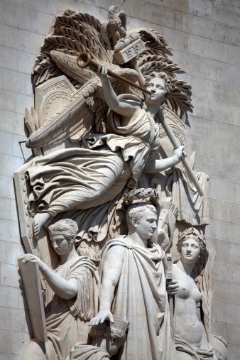 Arc de Triomphe - Paris「Sculpture on Arc De Triomphe」:スマホ壁紙(16)