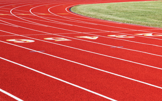 Running Track「Red Running Track Curve Center Lanes」:スマホ壁紙(15)