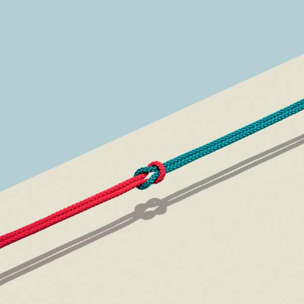 Red and blue rope tied together:スマホ壁紙(壁紙.com)