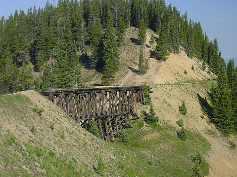 Arapaho National Forest「Early 1900s railroad trestle.」:スマホ壁紙(7)