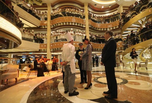 Passenger Craft「The Duchess Of Cambridge Attends Princess Cruises Ship Naming Ceremony」:写真・画像(1)[壁紙.com]