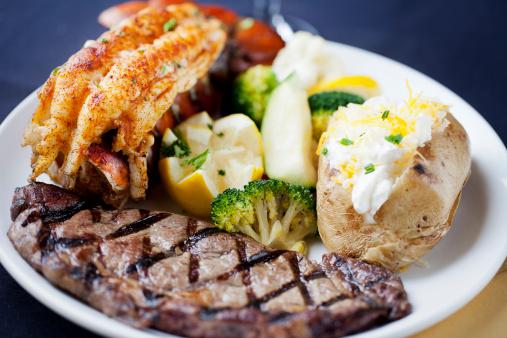 Baked Potato「Surf and turf: dinner of steak, lobster tail」:スマホ壁紙(6)