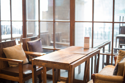 Dining Table「The interior of a cafe」:スマホ壁紙(18)