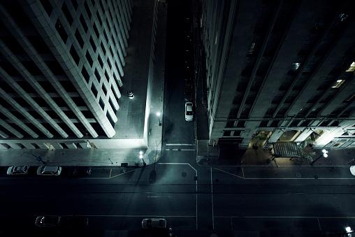 Gulf Coast States「Looking down on a city street」:スマホ壁紙(15)