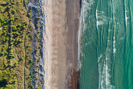 Kiwi「Looking down at beach.」:スマホ壁紙(9)