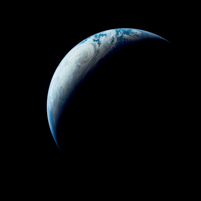 1967「Crescent Earth taken from the Apollo 4 mission.」:スマホ壁紙(4)