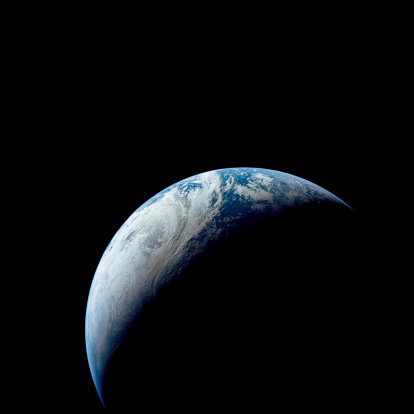1967「Crescent Earth taken from the Apollo 4 mission.」:スマホ壁紙(13)