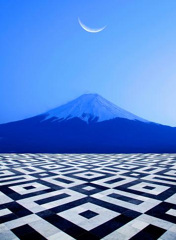 Satoyama - Scenery「Strange view of famous mountain Fuji.」:スマホ壁紙(1)