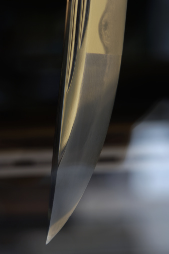 戦国武将「Sword, close-up of pointed edge」:スマホ壁紙(14)
