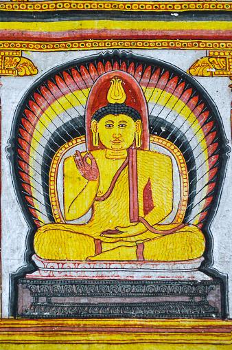 Sri Lanka「Kandyan-style murals in Selawa Cave Temple」:スマホ壁紙(17)