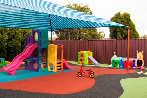 Sunshade「Preschool playground with sunshade and playgraound equipment」:スマホ壁紙(19)