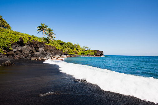 Hawaii Islands「Black Beach Honokalani Wainapanapa Maui Hawaii」:スマホ壁紙(19)