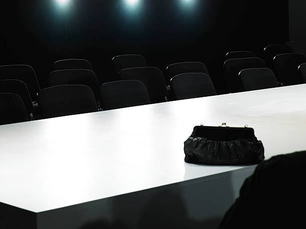 Bag on catwalk and seating for fashion show:スマホ壁紙(壁紙.com)