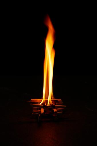 Growth「Flame of Bonfire Burning Upward」:スマホ壁紙(17)