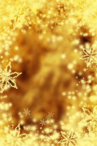 雪の結晶「ゴールドクリスマスの背景」:スマホ壁紙(19)