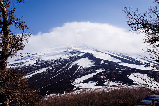 Japan「Summit of Mt Fuji as Seen from Fuji Sabaru Line, 5th Station, Japan.」:スマホ壁紙(13)