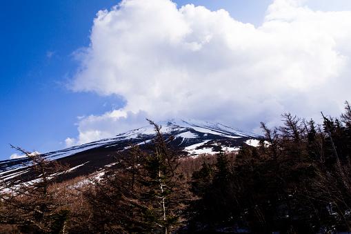Japan「Summit of Mt Fuji as Seen from Fuji Sabaru Line, 5th Station, Japan.」:スマホ壁紙(12)