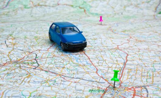 Map「車と地図」:スマホ壁紙(19)