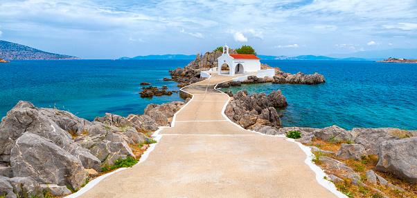 Causeway「Little Church, Agios Isidoros, Chios Island, Greece」:スマホ壁紙(17)