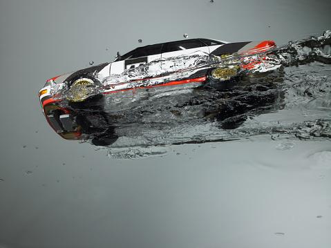 Sports Car「Rally Race car Flying through water」:スマホ壁紙(13)