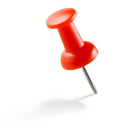 Straight Pin「Red push pin」:スマホ壁紙(12)