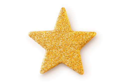 Gold Colored「Gold star. Christmas decoration.」:スマホ壁紙(5)