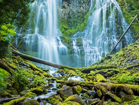 ウィラメット国有林「近接の滝、ウィルメット国立森林公園、中央オクラハマ」:スマホ壁紙(2)