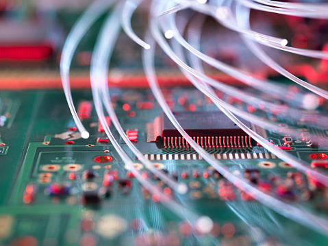 Mother Board「Fibre optics attacking electronic circuit boards with a virus」:スマホ壁紙(2)