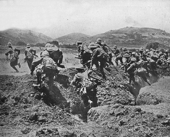 Trench「The Beginning Of An Advance On The Turkish Positions 1915」:写真・画像(8)[壁紙.com]
