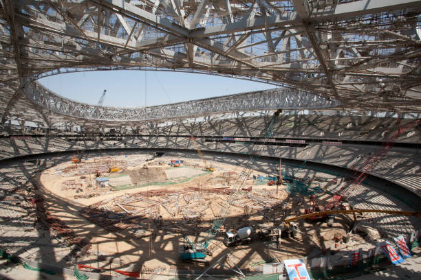 Beijing National Stadium during construction  China:ニュース(壁紙.com)