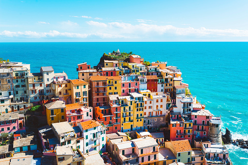 Village「Breathtaking Cinque Terre village, Manarola, Italy」:スマホ壁紙(5)