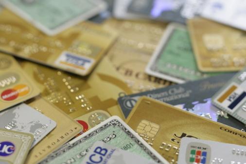 Credit Card「Close Up Image of Credit Card Pile」:スマホ壁紙(15)