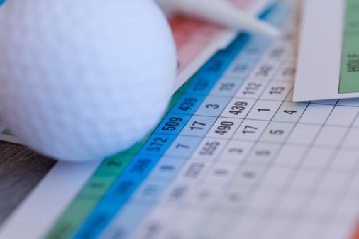 Northern Mariana Islands「Close Up Image of Golf Ball on Scorecard, Differential Focus」:スマホ壁紙(12)