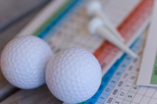 Northern Mariana Islands「Close Up Image of Golf Ball on Scorecard, Differential Focus」:スマホ壁紙(4)