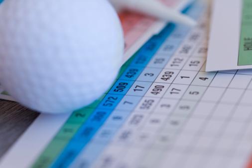 Northern Mariana Islands「Close Up Image of Golf Ball on Scorecard, Differential Focus」:スマホ壁紙(19)
