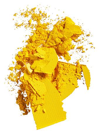 Girly「A close up image of smashed yellow eye shadow」:スマホ壁紙(1)
