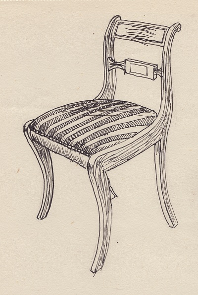 Upholstered Furniture「Chair With Striped Seat」:写真・画像(12)[壁紙.com]
