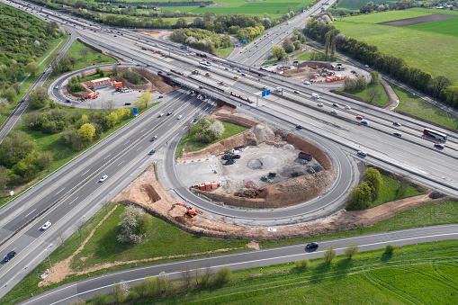 Road Construction「Highway, cloverleaf junction and large construction site」:スマホ壁紙(16)