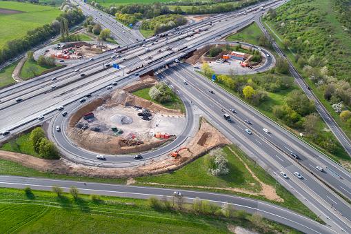 Road Construction「Highway, cloverleaf junction and large construction site」:スマホ壁紙(14)