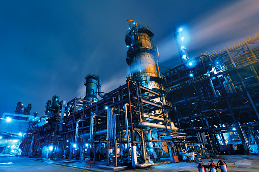 Dark「Oil Refinery, Chemical & Petrochemical plant」:スマホ壁紙(2)