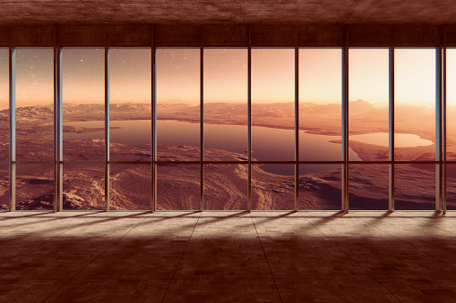Window Frame「Mars landscape, view from Martian holiday villa」:スマホ壁紙(8)