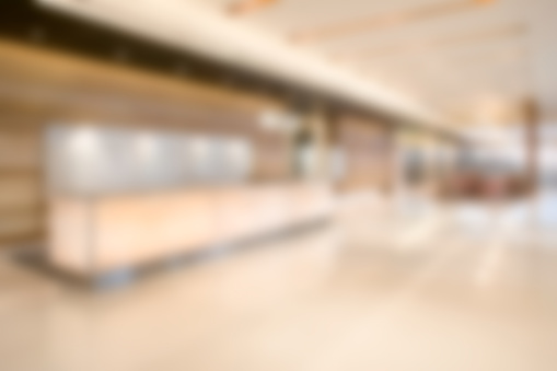Wide Shot「Defocused Commercial Building Lobby - Business Background Wallpaper」:スマホ壁紙(3)