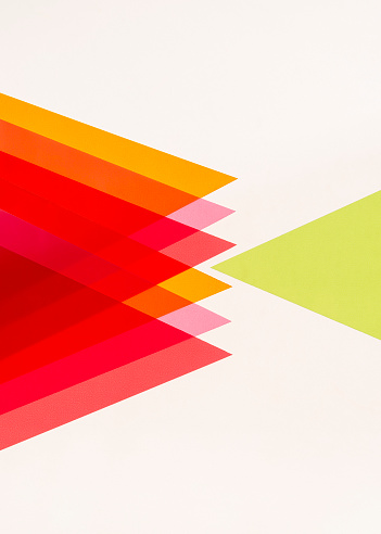 Rebellion「One green triangle opposing many red, pink and orange triangles.」:スマホ壁紙(2)