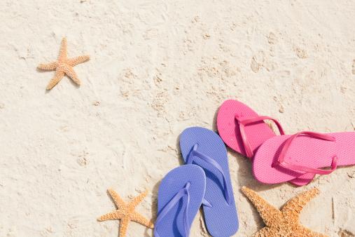 Flip-Flop「Tropical Beach Vacation Background」:スマホ壁紙(7)